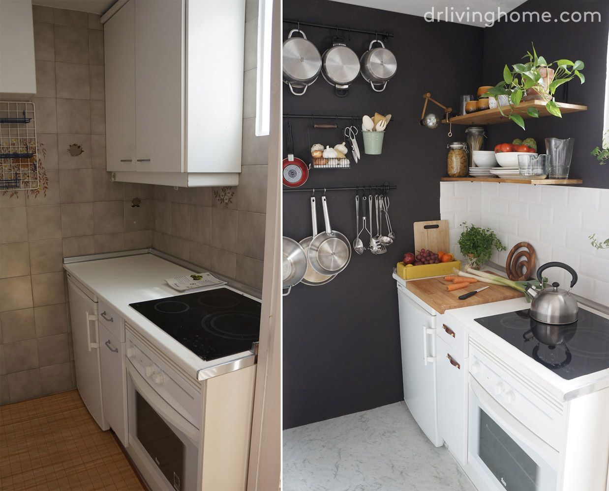 C Mo Ordenar Una Cocina Peque A Para Aprovechar El Espacio  ~ Ideas Para Tapar Azulejos De Cocina
