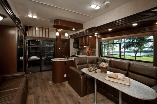 Awesome living room area cyclone 5th wheel by heartland - Front living room 5th wheel toy hauler ...