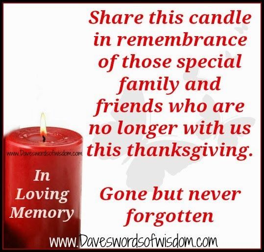 In Remembrance Of Loved Ones This Thanksgiving quotes in memory thanksgiving tha…