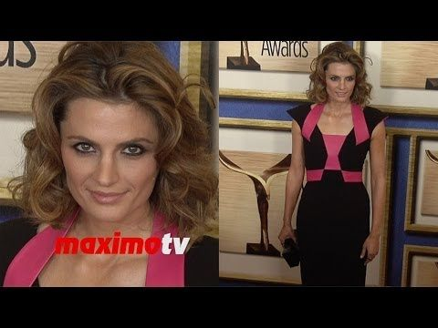 stana katic 2014 writers guild awards la show red carpet castle youtube