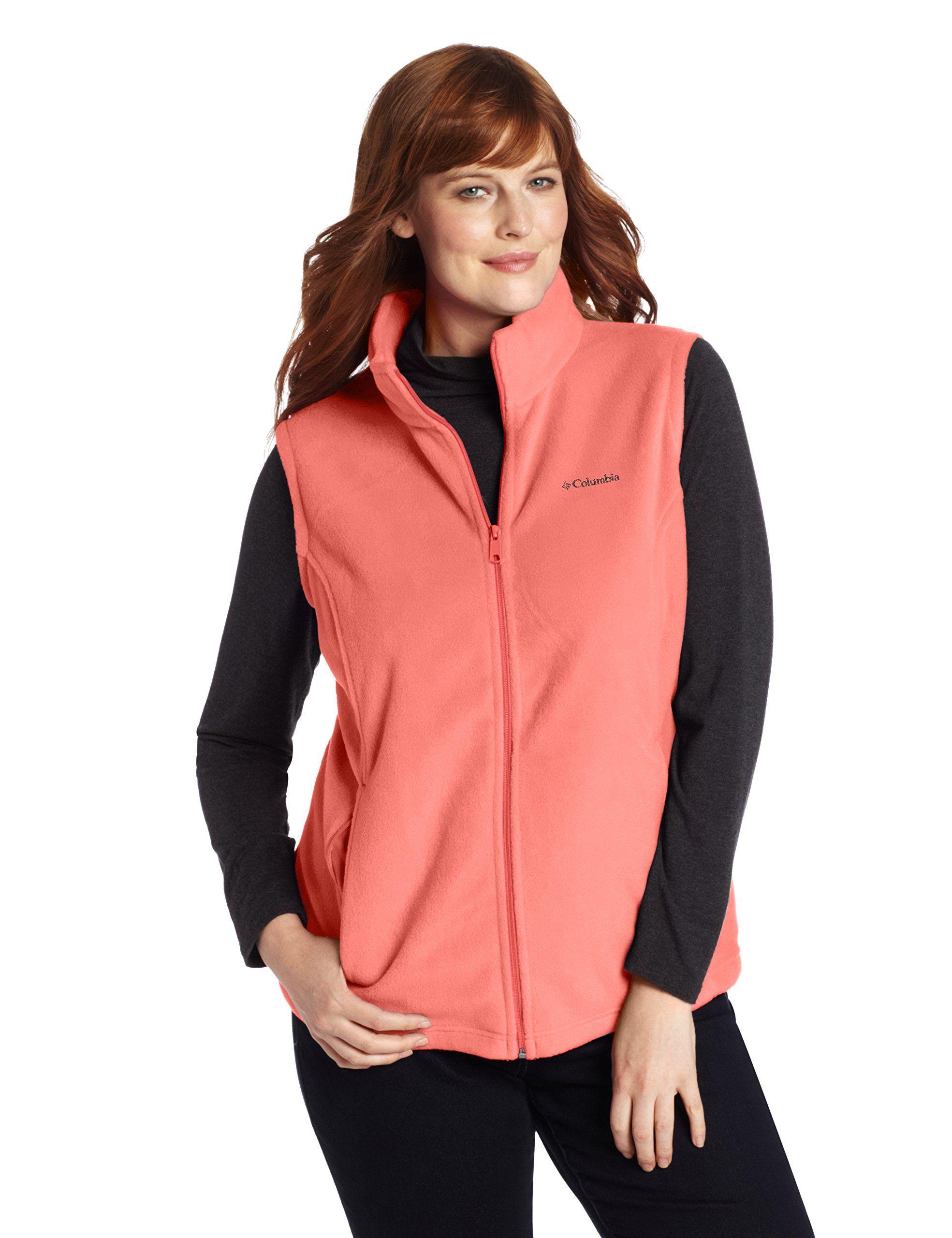 Columbia Women's Plus Size Benton Springs Vest, Lychee, 2X