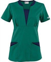 377a7197033 UA Best Buy Scrubs Contrast V-Neck Four Pocket Scrub Top, Style # CT255  #fashion, #nurses, #huntergreen, #uniformadvantage