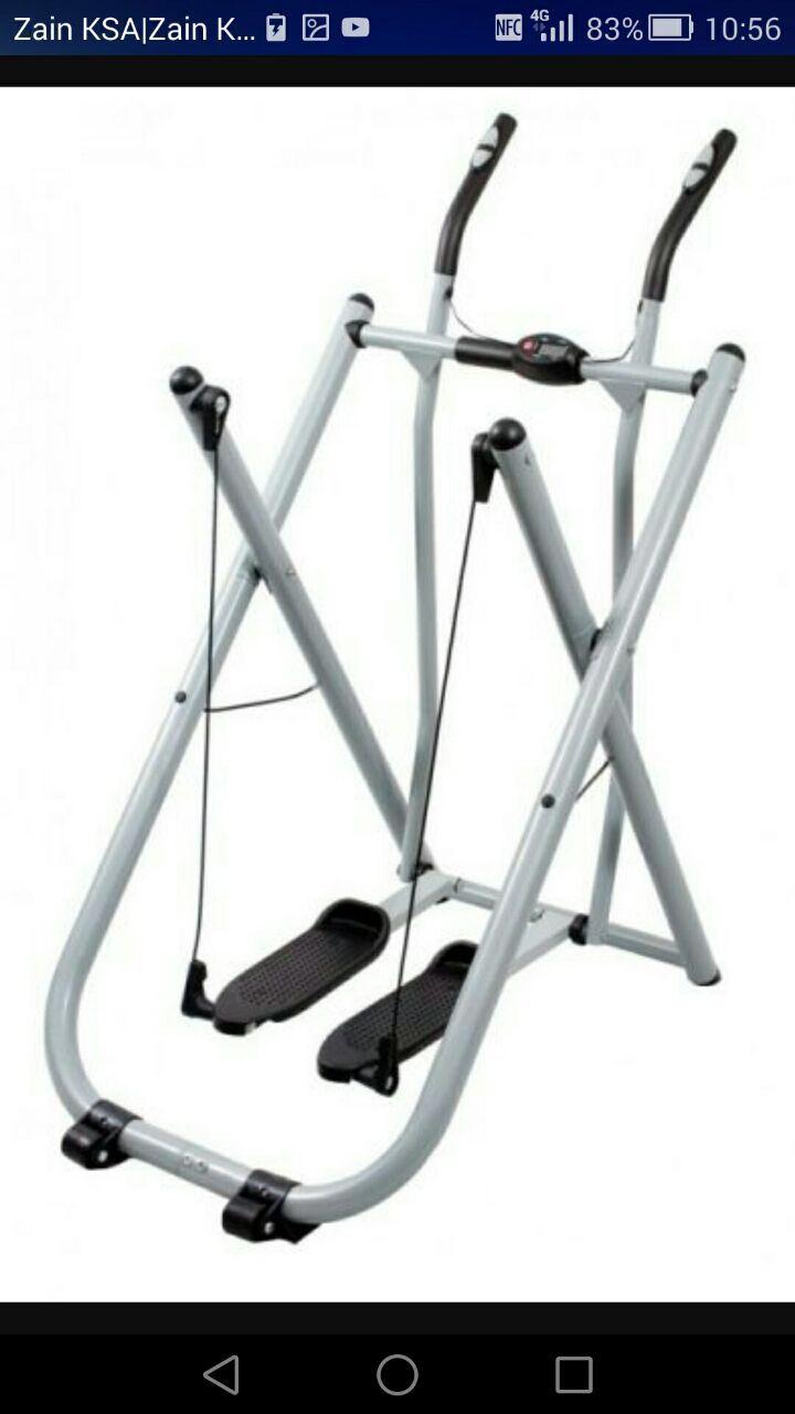 معلومات عن الاإعلان جهاز الغزال الطائر مع قياس نبضات القلب الغني عن التعريف تنحيف الجسم كاملا بسعر 350 ريال Workout Machines Total Body Workout Exercise
