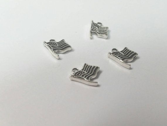 Flag Tibetan Silver Flag Charm Charms Findings Jewelry Etsy Flag Charm Tibetan Silver Silver