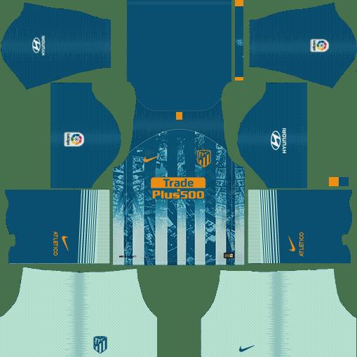 Atletico Madrid Kits & Logo [2018-2019] Dream League Soccer