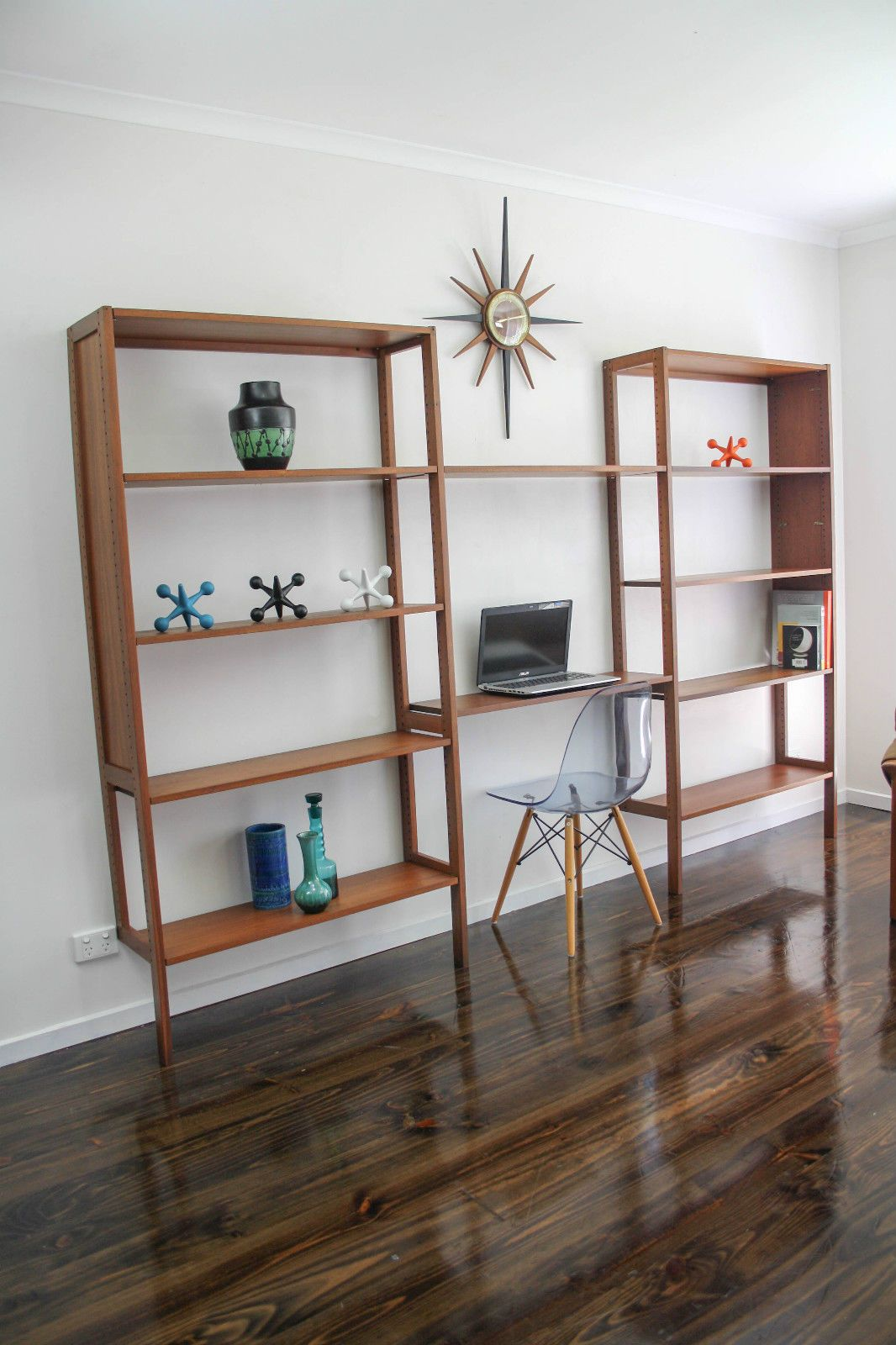mid century modular wall unit desk system retro vintage. Black Bedroom Furniture Sets. Home Design Ideas