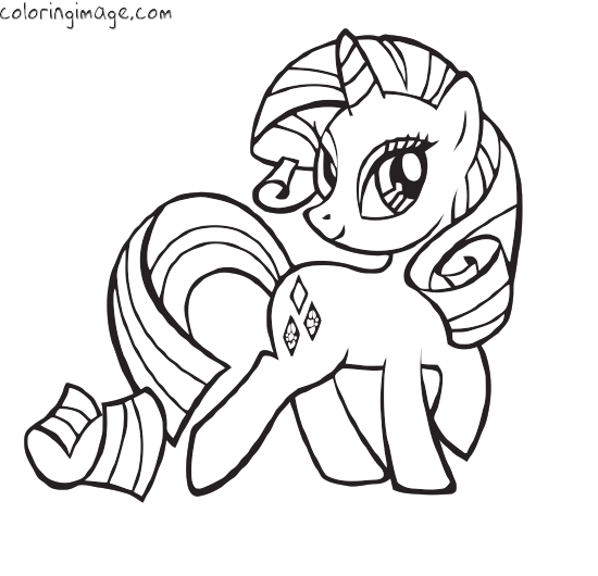Rarity My Little Pony Unicorn My Little Pony Coloring Unicorn Coloring Pages