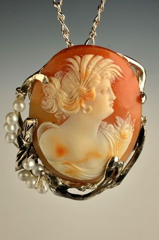Sterling Silver Pin/Pendant with Early 1900s Large Cameo