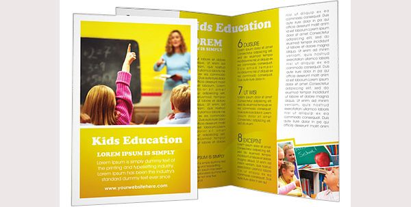 Brosur Sekolah School Education Brochure Template Contoh - School brochures templates