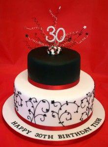 30th Birthday Cakes 30th Birthday 187 Vanilla Bean Cake