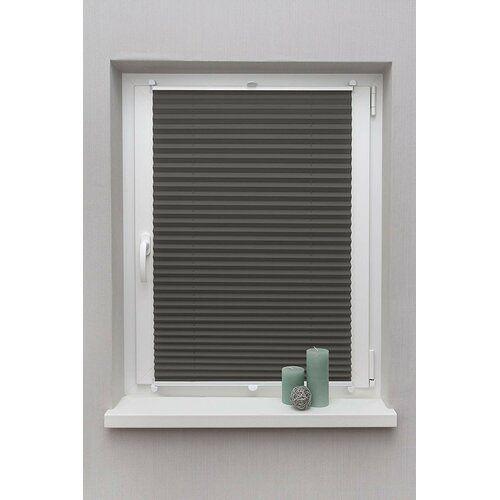 Plissee Blickdicht ClearAmbient Größe: 130 cm L x 70 cm B, Farbe: Dunkelgrau