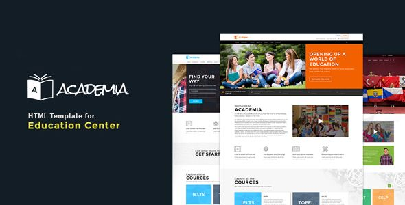 Academia education bootstrap template template website and download free academia education bootstrap template classes clean course management courses e learning education event forums lessons parallax maxwellsz