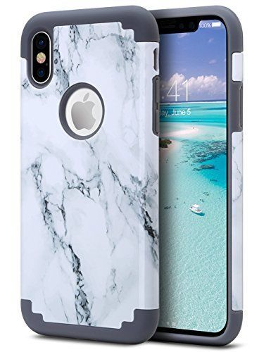 ULAK iPhone X Case Marble iPhone Xs CaSE Slim Match Heavy Du