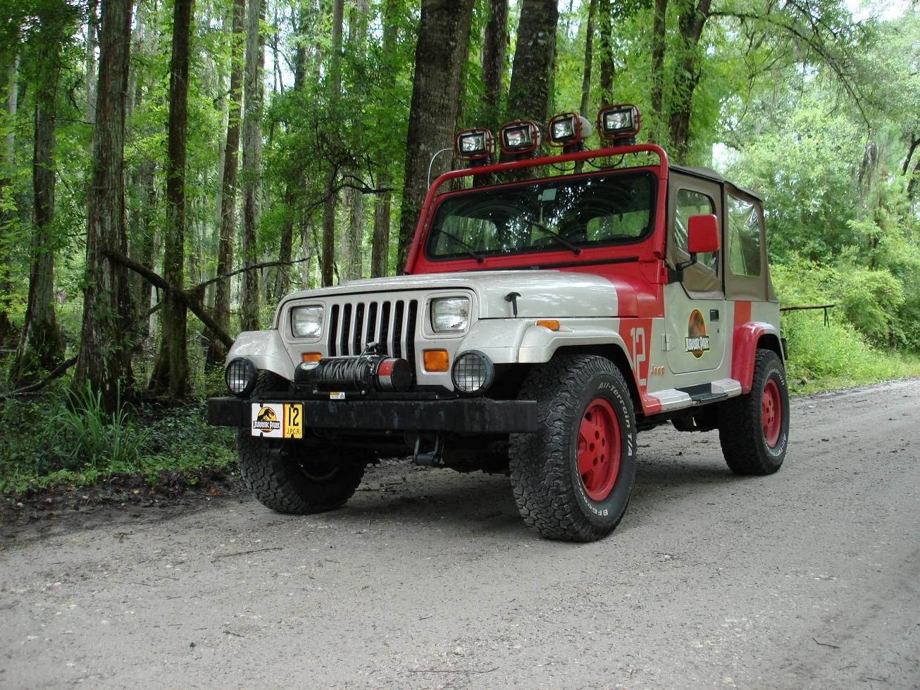 reference: jeep wrangler guide | jurassic park motor pool