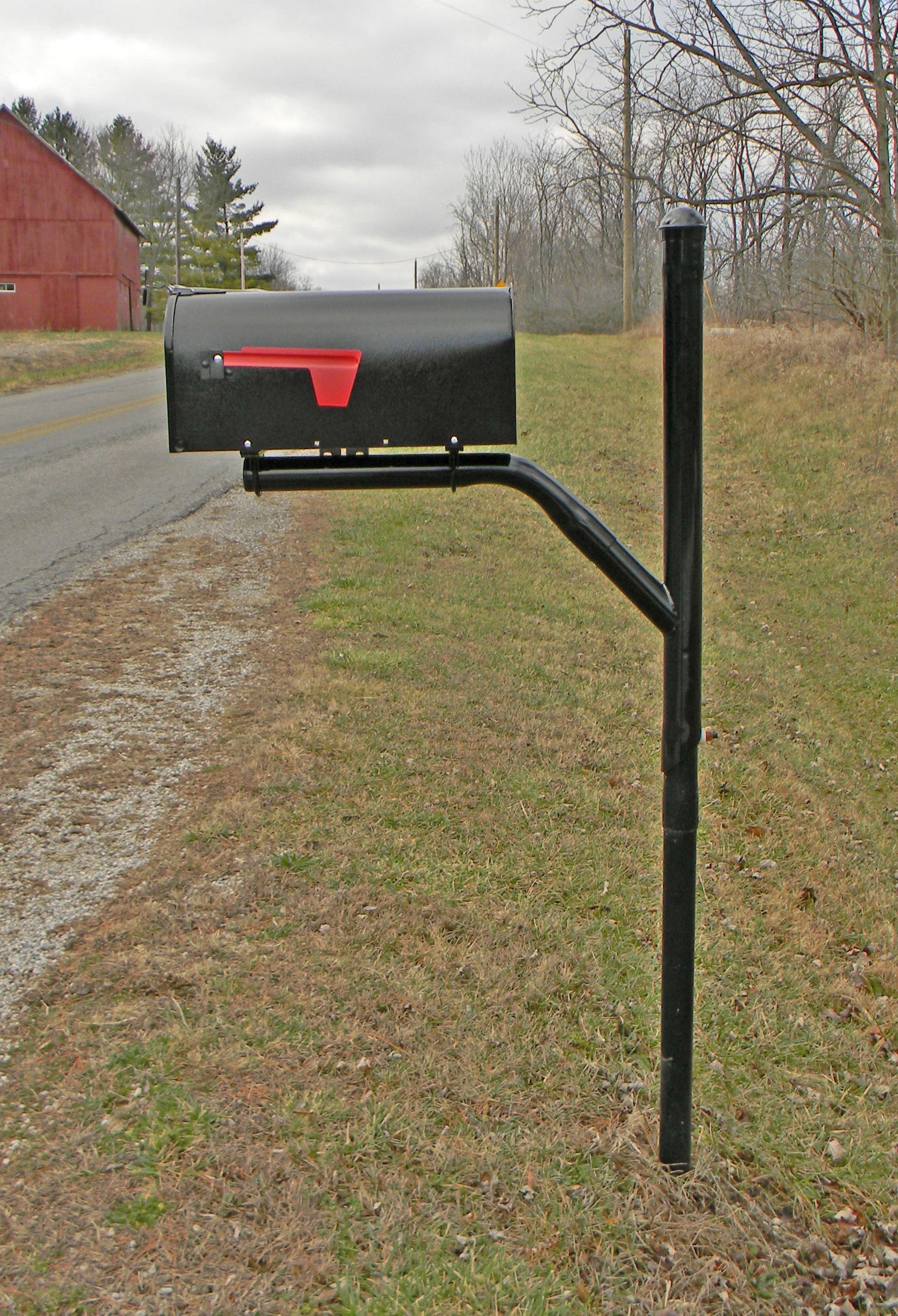 Rtc Mailbox Post With Universal Mounting Bracket And Standard