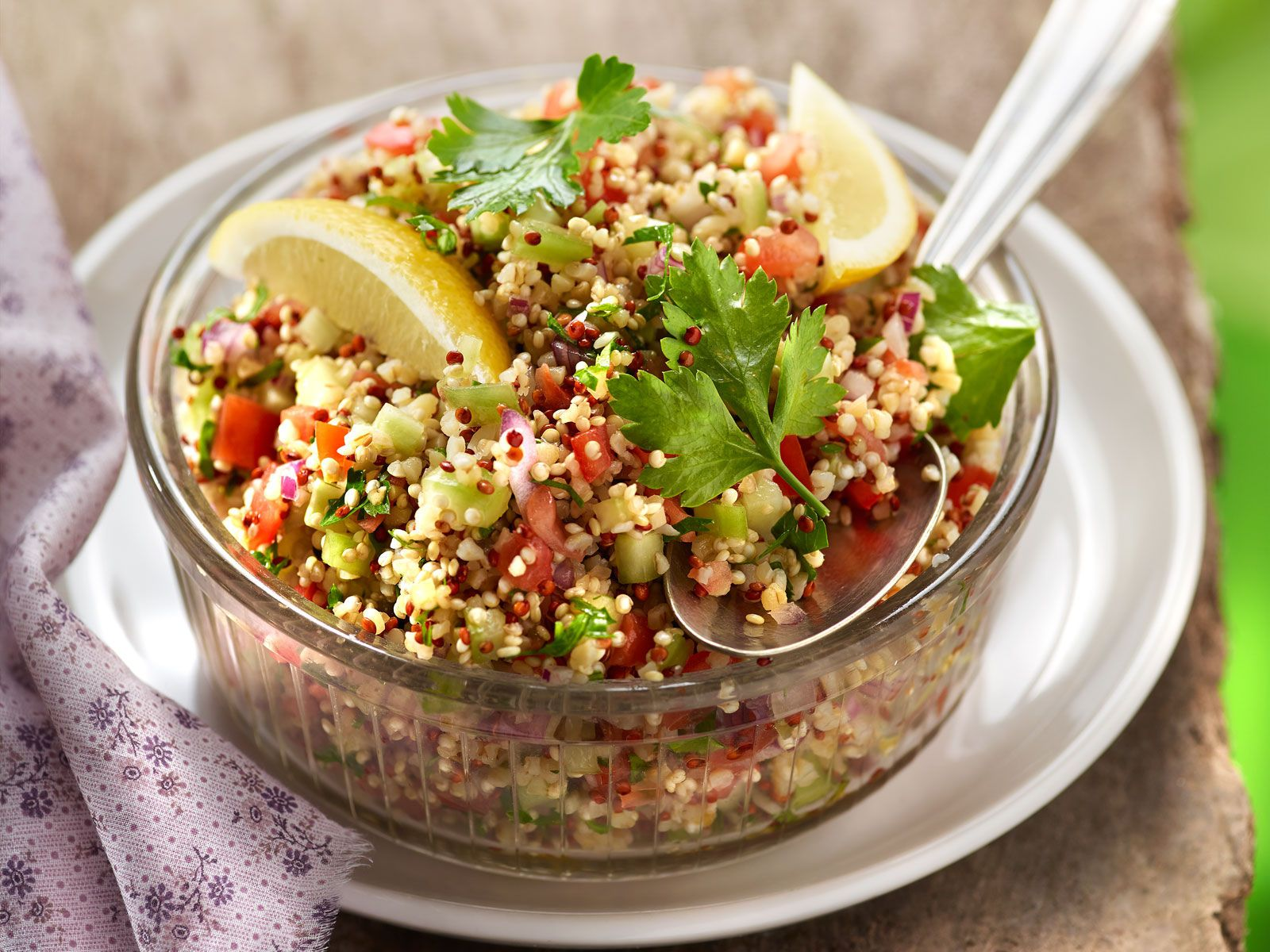 Taboulé quinoa sans cuisson | Recette en 2020 | Quinoa ...