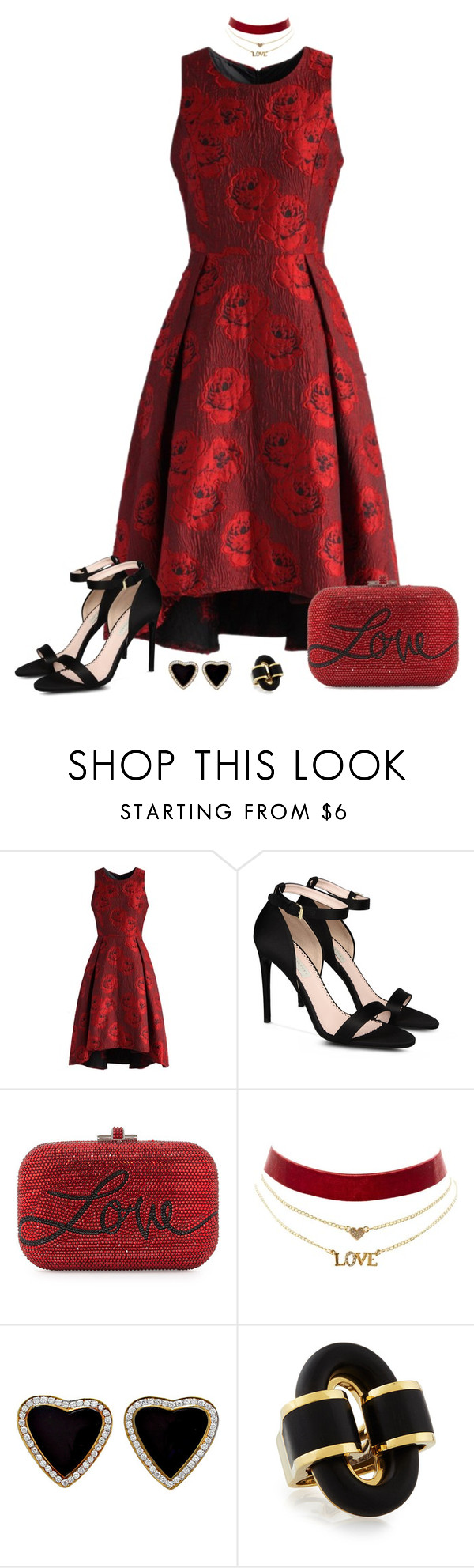 """""""Take me Home"""" by tuomoon ❤ liked on Polyvore featuring Chicwish, STELLA McCARTNEY, Judith Leiber, Charlotte Russe and valentinesday"""