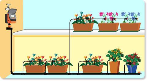 Irrigazione A Goccia Per Piante In Vaso Self Tutto Il