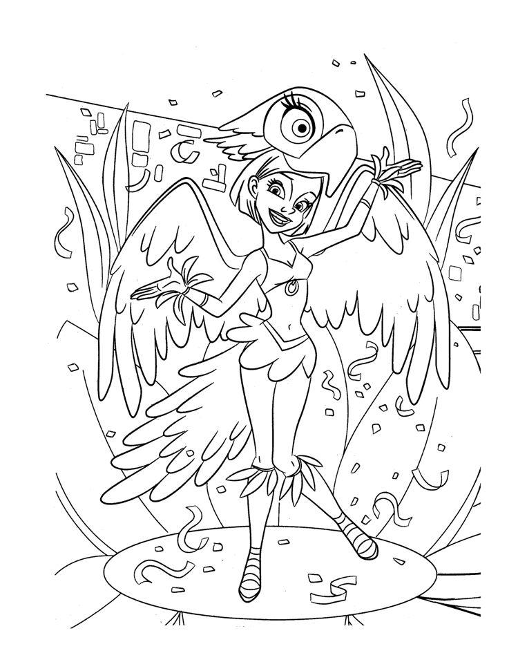 Karneval Rio Ausmalbilder Papagei Kostüm #children #print #carnival ...