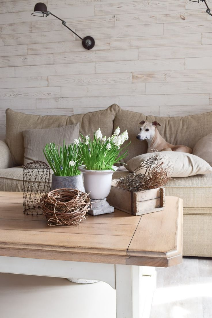 deko perlhyazinthen tischdeko dekoidee üfr wohnzimmer