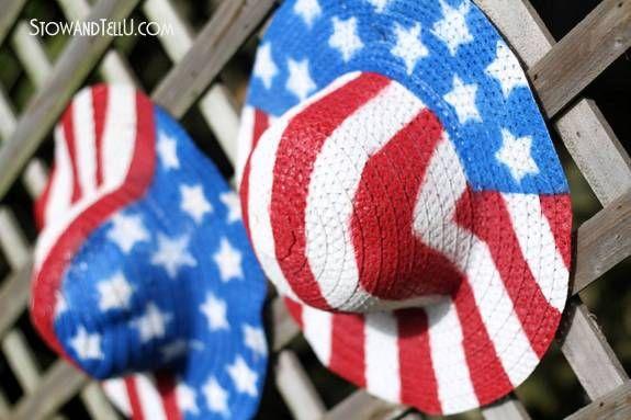 3769d5e6283 Patriotic Straw Hats  Stars and Stripes Blog Tour