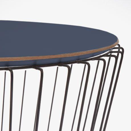 Beistelltisch – Schwarz/Blau – Label comingB aus Frankreich