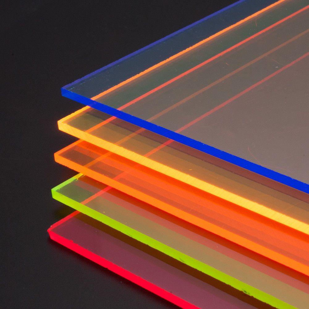 Metacrilato Transparente Fluorescente Mw Materials Servei Estacio Colored Acrylic Sheets Acrylic Sheets Plastic Sheets