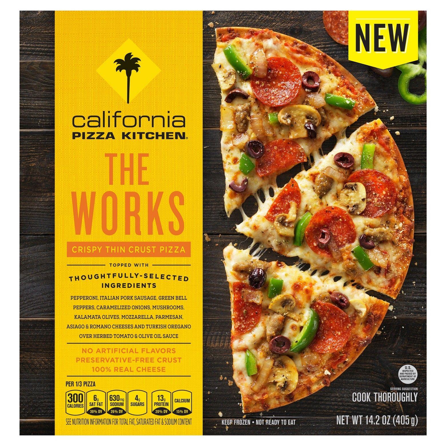 California Pizza Kitchen The Works Crispy Thin Crust Frozen Pizza