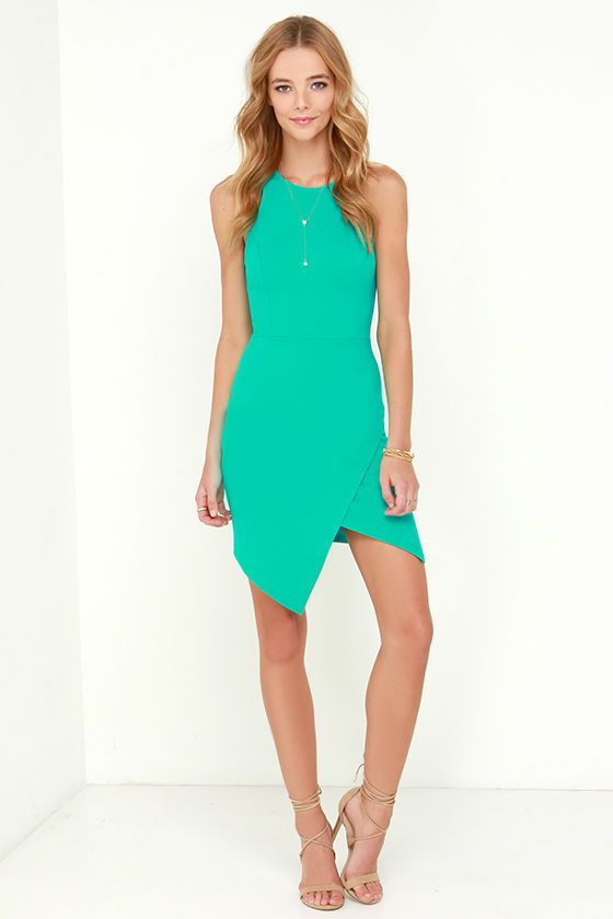 a3c1636b7c99 Rocksteady and Ready Sea Green Bodycon Dress at Lulus.com!