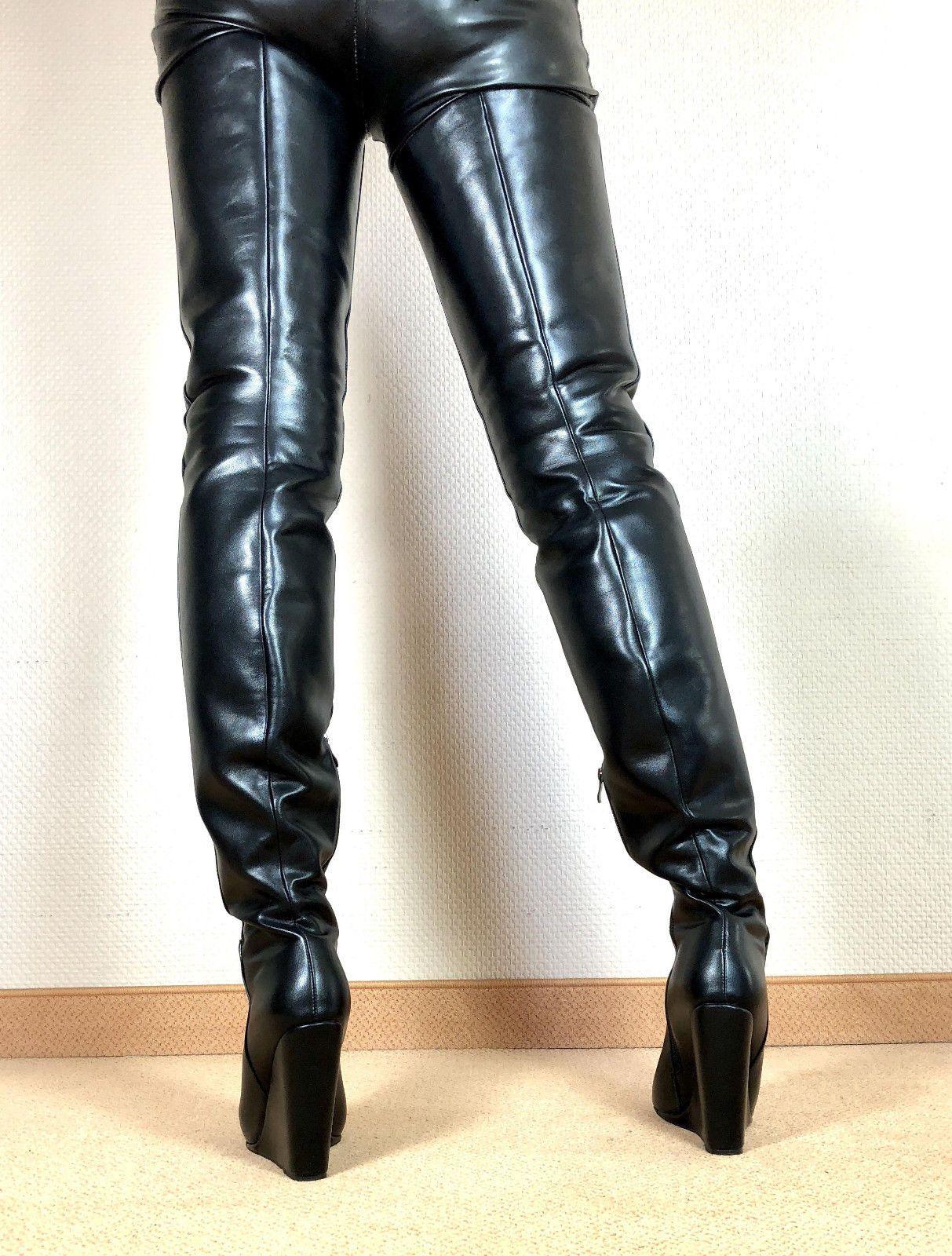 a71836ab012c0 Gr.46 TOP ! Exklusiv Sexy Damen Schuhe Overknee Wedges Stiefel ...