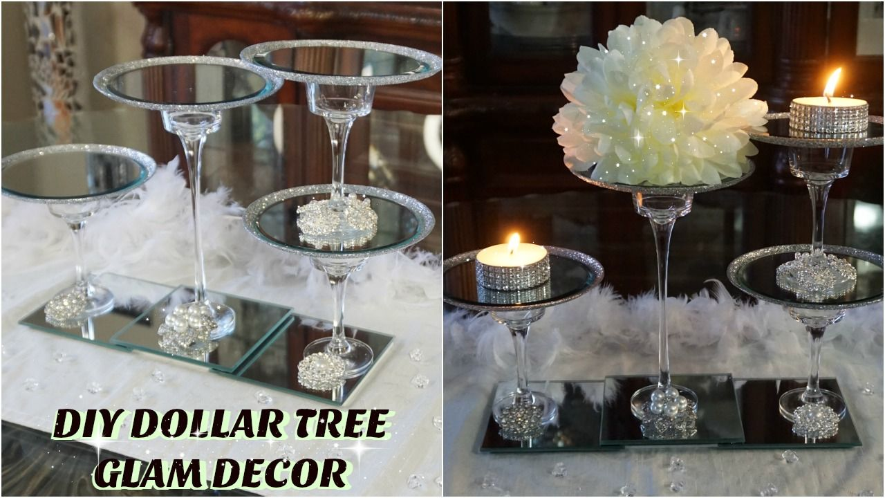 HOW TO MAKE A EASY BUT GLAM WEDDING CENTERPIECE Diy