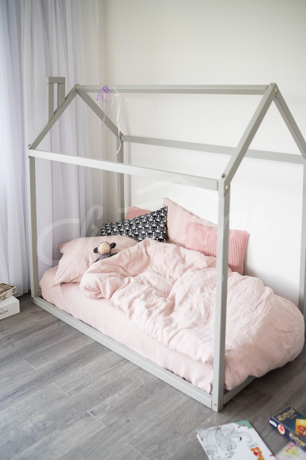 Toddler Bed Play House Bed Frame Children Bed Bunk Bed Home Etsy House Frame Bed House Beds Toddler Bed