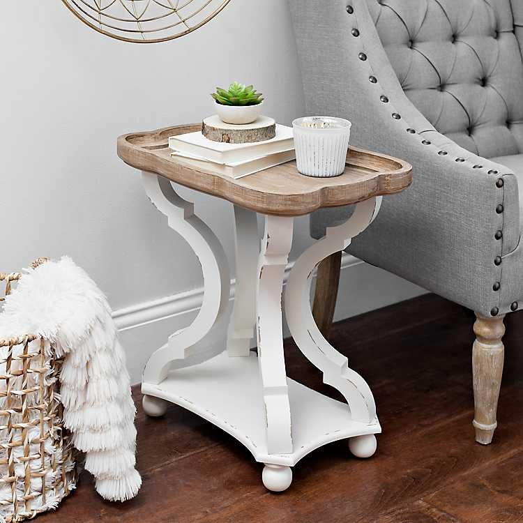 Corina Scalloped Chairside Table Chair Side Table Side Table Decor Small Accent Tables