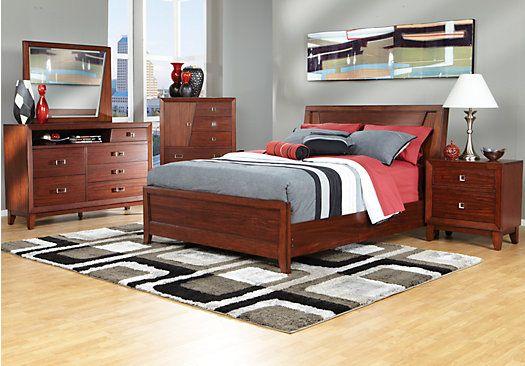 Brock Point Tobacco Queen Bedroom Collection Guest Bedroom