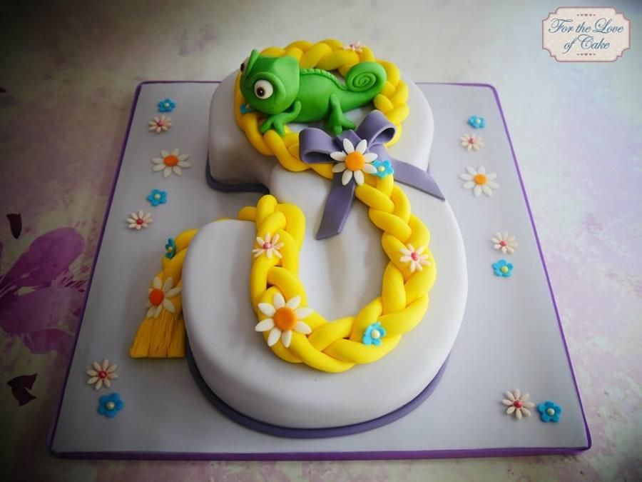 Tangled theme number 3 cake Cake by For the love of cake Laylah