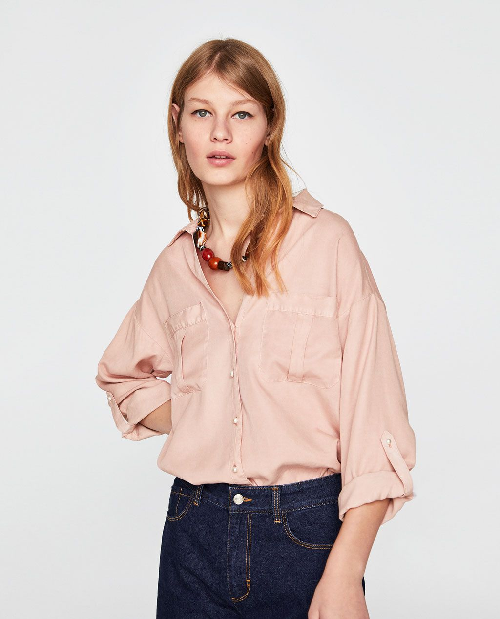 Image 2 of PEARLY SHIRT from Zara