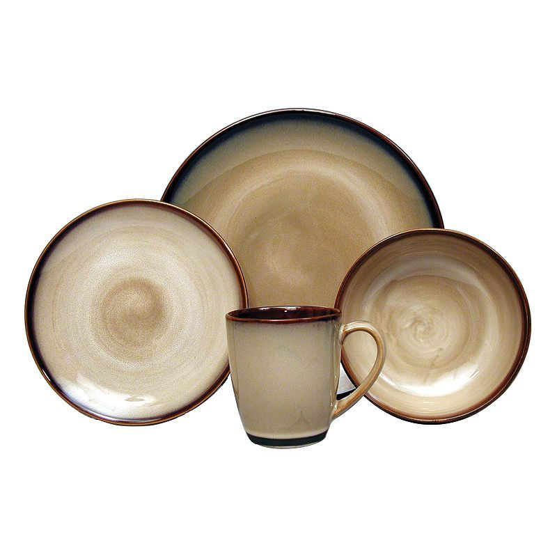 Sango Avanti Brown 16-pc. Dinnerware Set | Apartment Decor Ideas ...