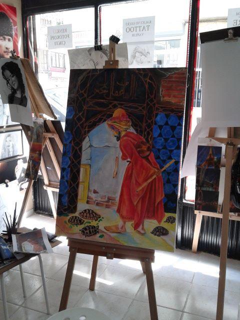 Drawing by murat GÜREL çizen : murat Gürel sipariş akrilik çalışması 553 222 73 73