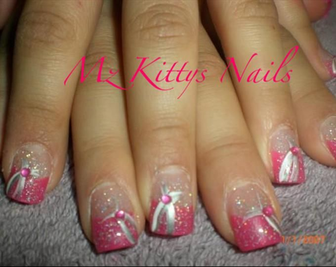 Pink French Tip Nail Designs | pink tip nail art photo tags nails art design - Pink French Tip Nail Designs Pink Tip Nail Art Photo Tags Nails