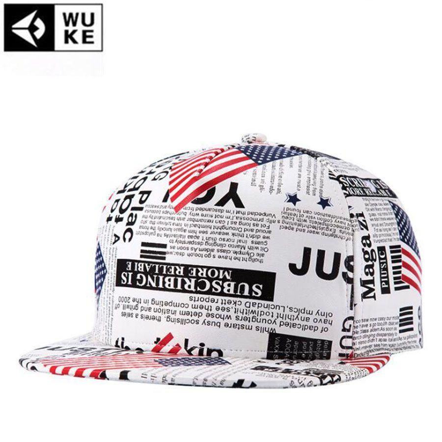 b50b044e10b WuKe Classic Make America Great Again Word Baseball Man Hip Hop ...
