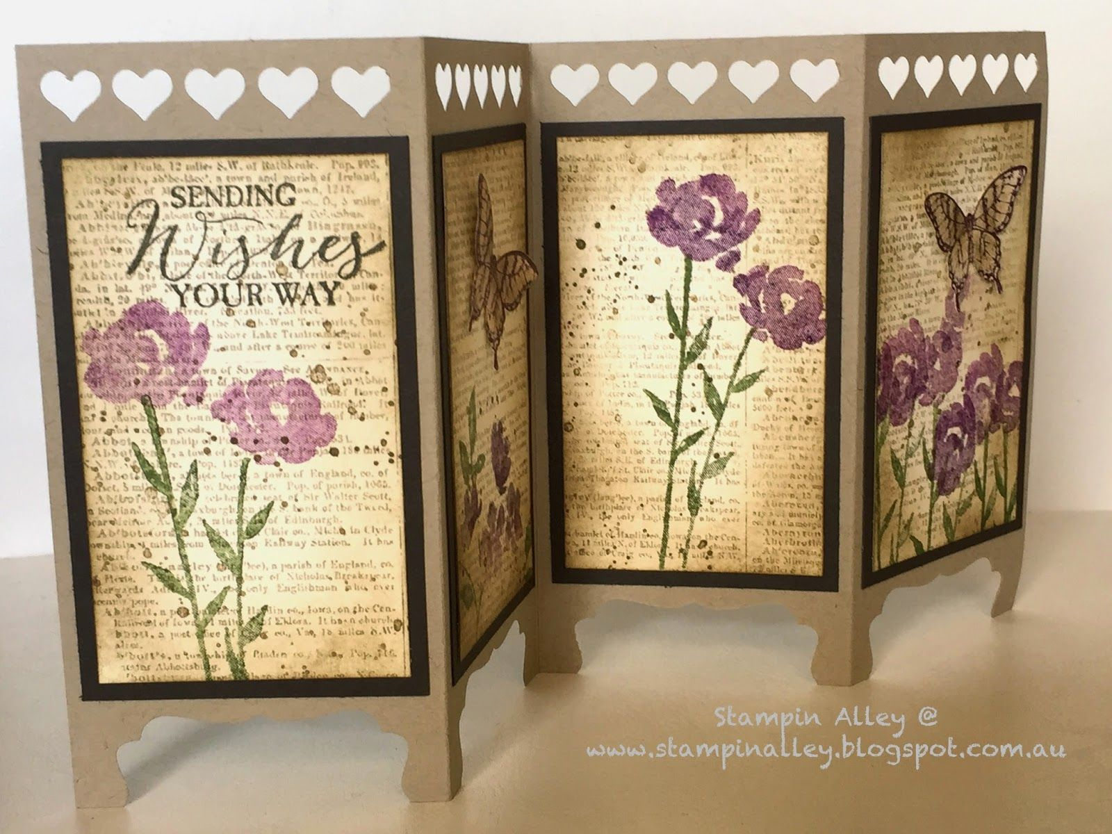 A matching vintage screen divider card cardaholic pinterest