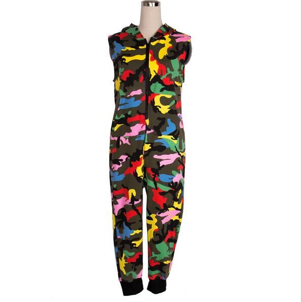 Click to Buy    New Fashion Kids Hip Hop Dance performance Camouflage  playsuit be9579286be