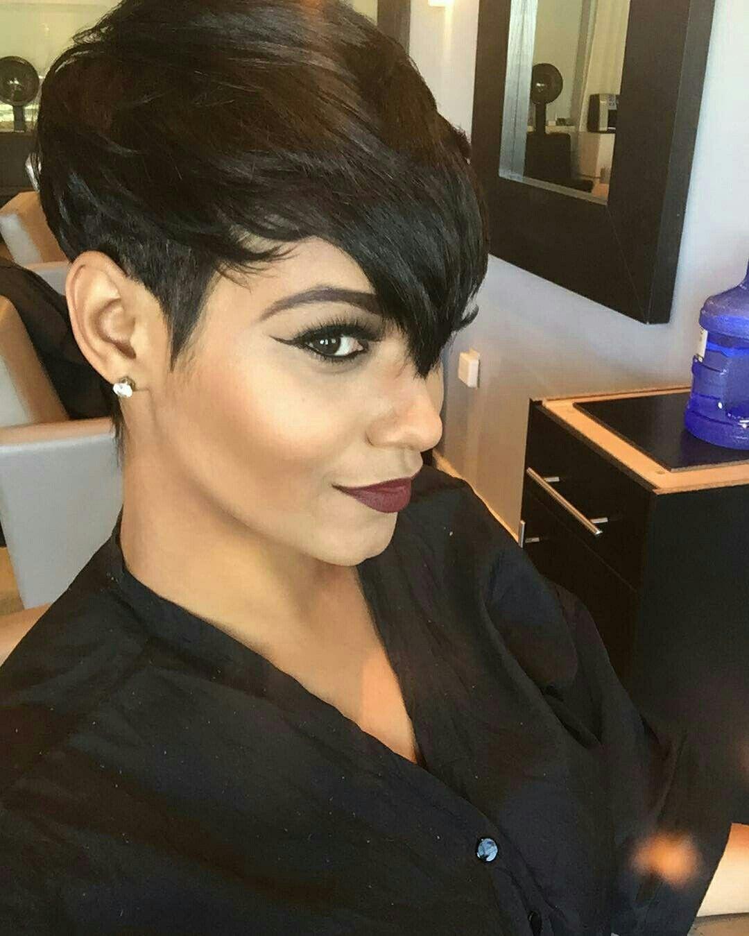 pinkey 💜 on short edgy fierce  short hair styles