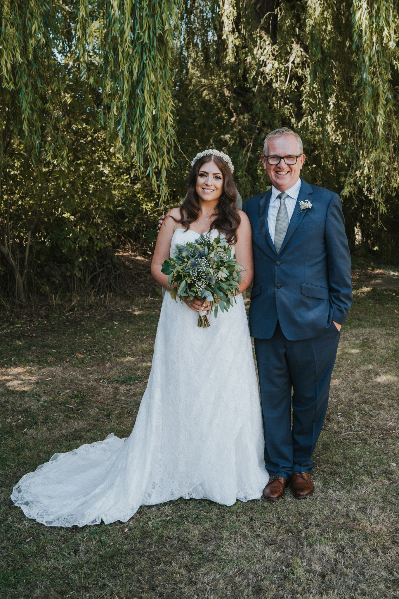 Beautifully romantic wedding on a diy budget bride and father