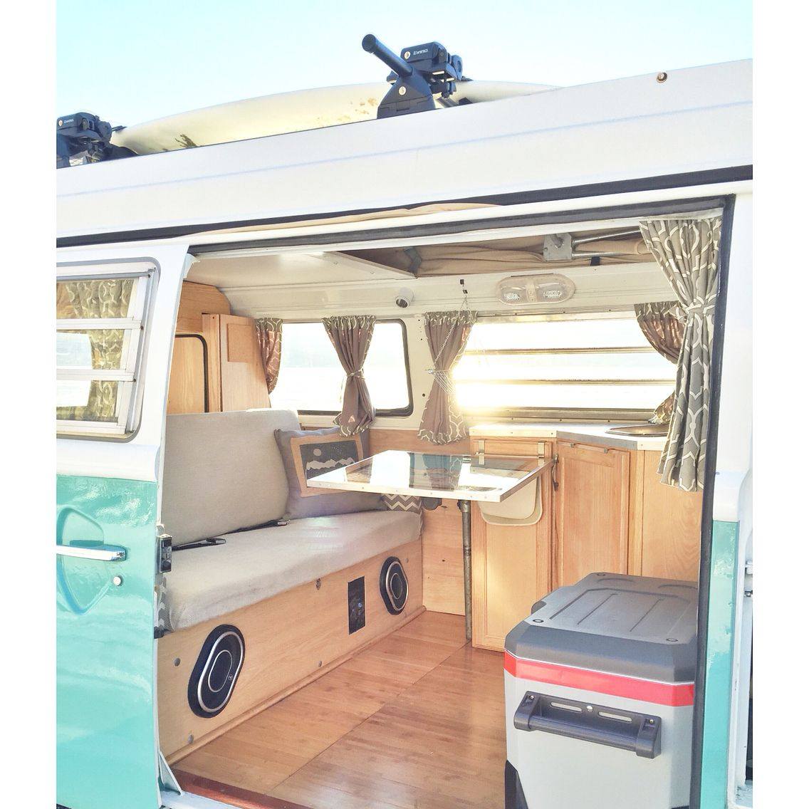 212 Best Diy Vw Images On Pinterest: Remodeled Interior Of Our 1975 VW Bay Window Bus.