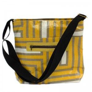 Crazy Maze - Tote Shoulder Bag - just loaded up onto the website - yey! #handmade #oilcloth #handbag