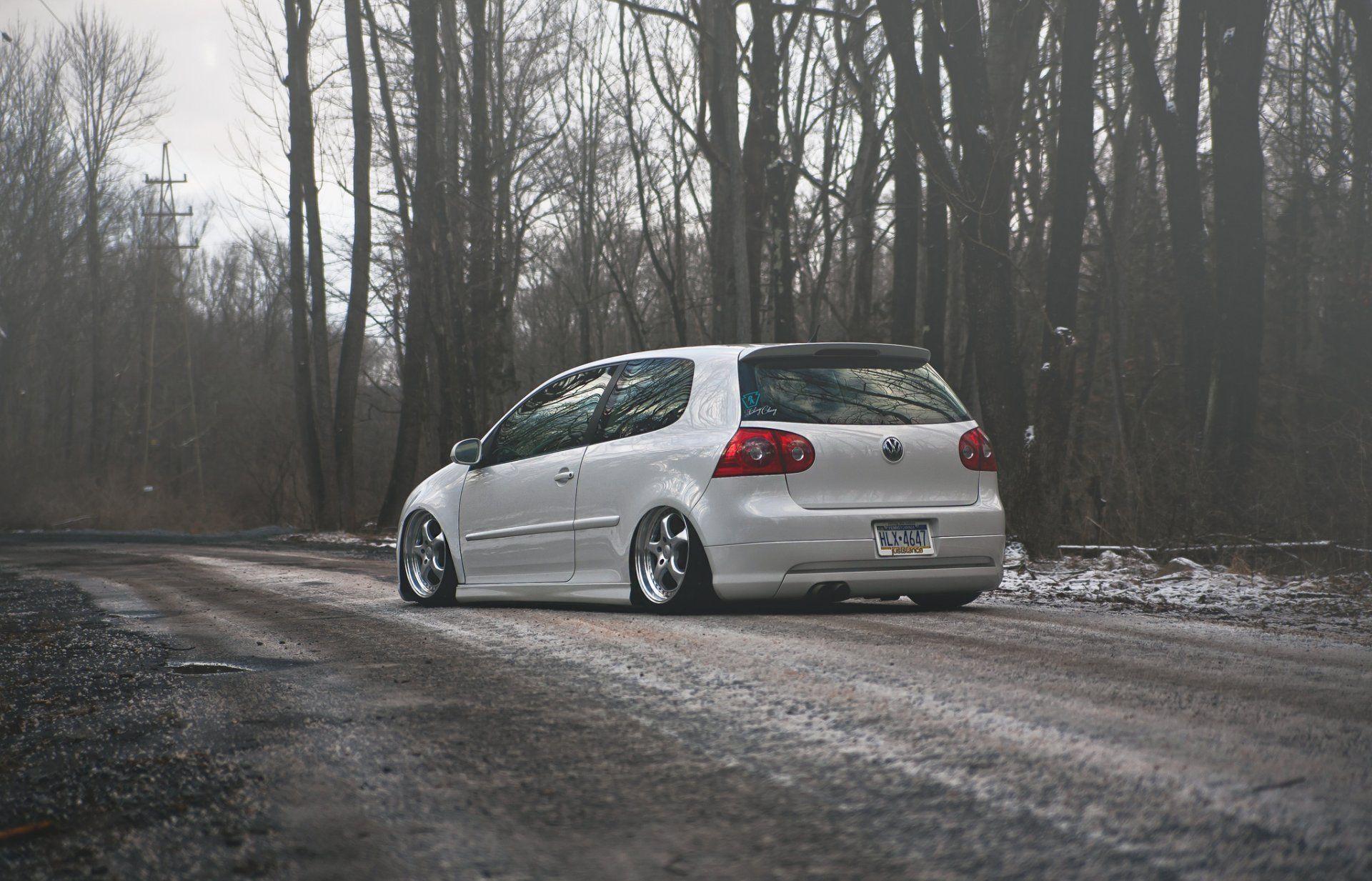 Volkswagen Golf Gti Stance Tuning Winter