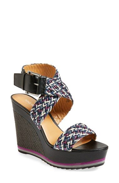 Nine West 'Waldrid' Wedge Sandal (Women) available at #Nordstrom