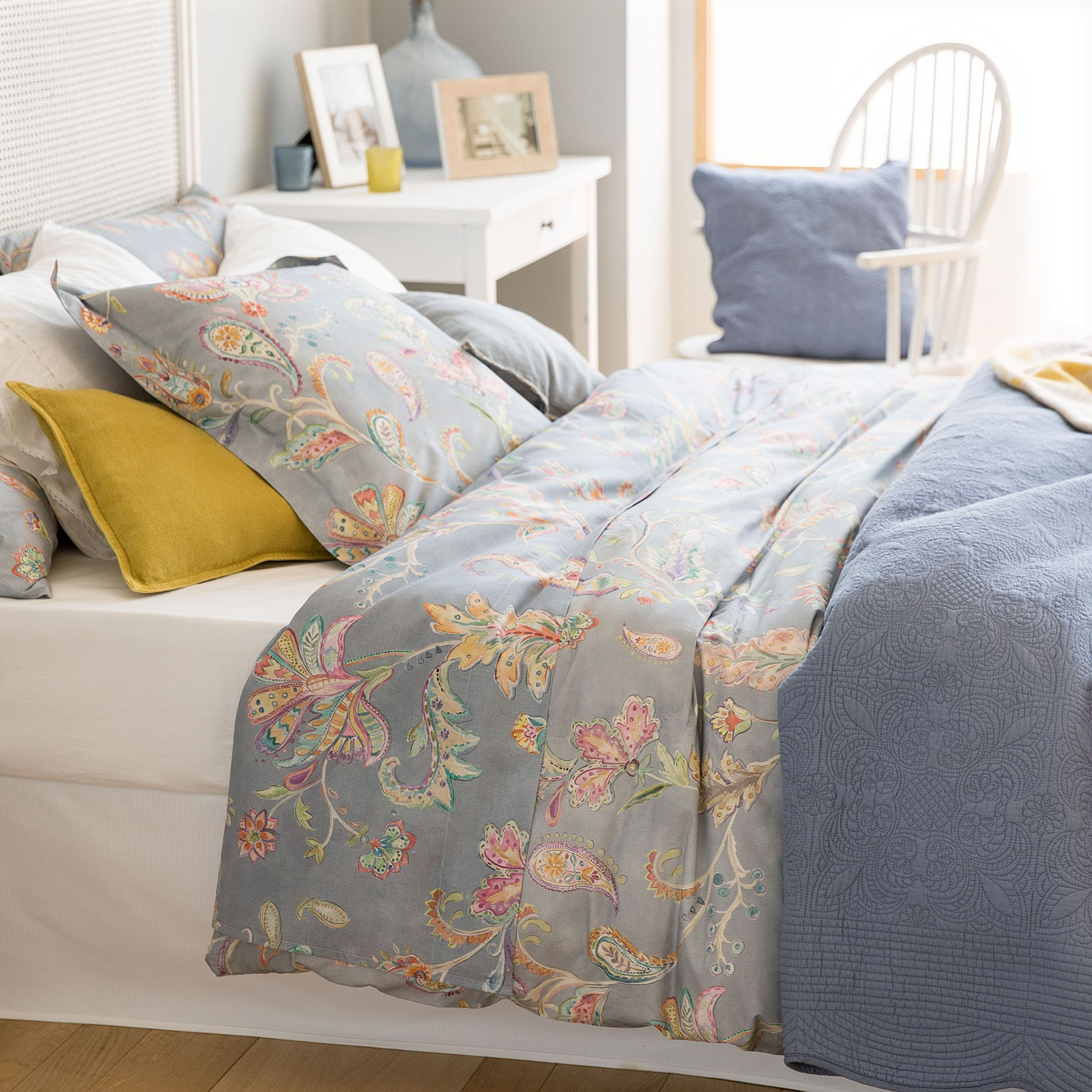 Blue Floral Print Duvet Cover Zara Home Bedroom Cheap
