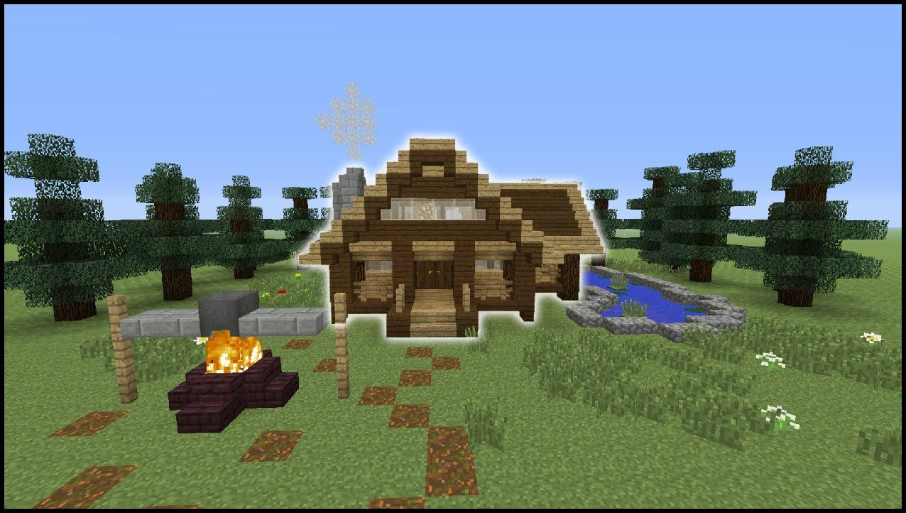 Minecraft Tutorial  How To Make A Log Cabin